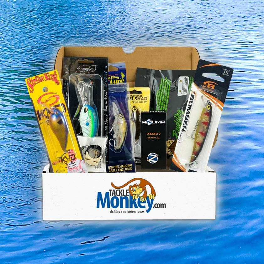 Monthly Tackle Box Subscription – Best Fishing Subscription Box | Mystery Tackle Monkey Box