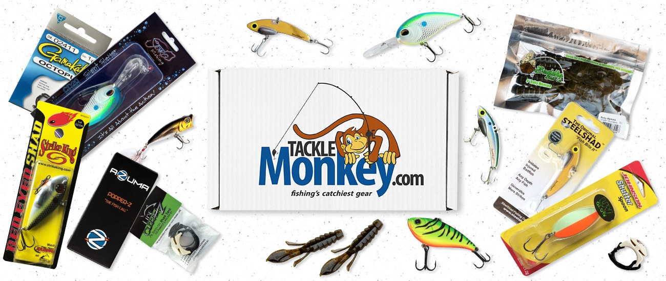Bass Mystery Tackle Monkey Box with products